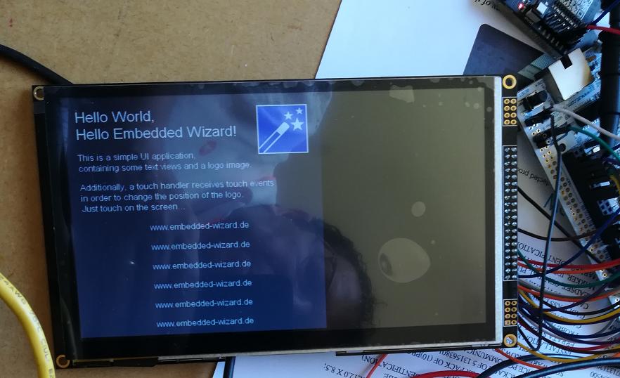 HelloWorld Nucleo-F746ZG SSD1963 800x480 16bit