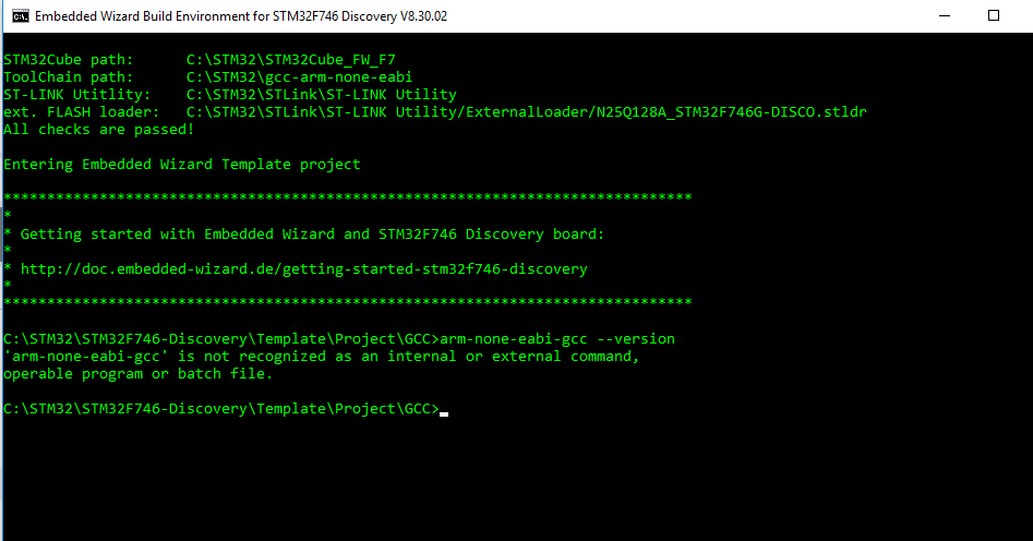 Can't compile for STM32F476 Discovery - Ask Embedded Wizard